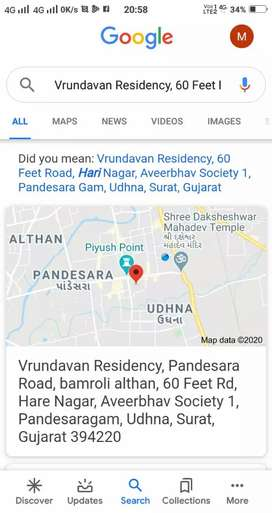 567 sq.ft flat at vrundavan residency, pandesara, udh na,surat