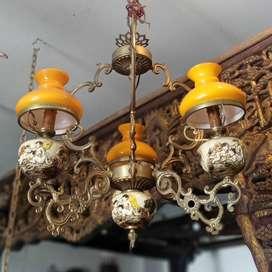 Lampu Gantung kristal Italy baby cabang 3 oren