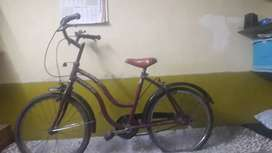 Bicycle is in good condition for sale.