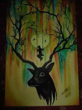 Painting title bahar