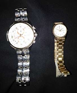 Casio Edifice Men and Old Gold Women 2 Watch