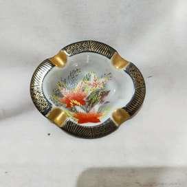 asbak keramik antik oval satsuma