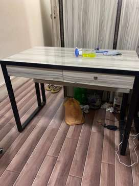 Office table, Ac, Glass door, cabinate, & chair
