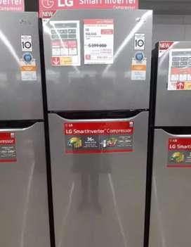 Kredit KULKAS LG REF 2D B200SQBB TANPA DP BUNGA 0% Proses 3Menit
