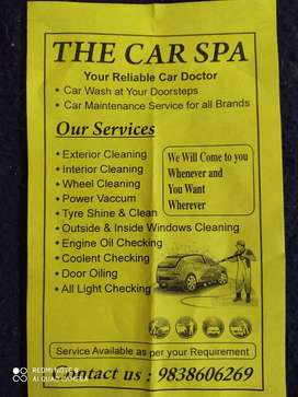 Car wash at your doorstep as per your requirement