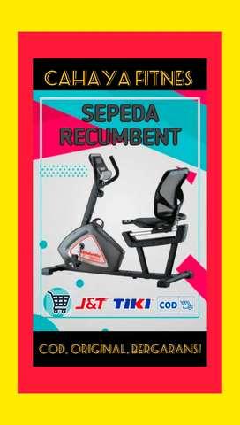 ALAT fitnes gym sepeda statis recumbent promo murah