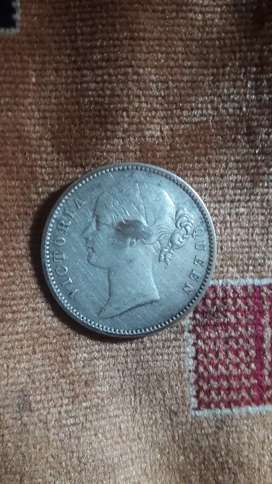 East India company one rupee rani coin