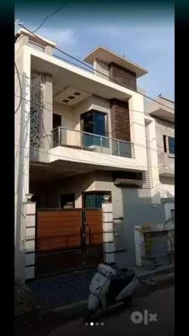 3 bhk home with modern elevation