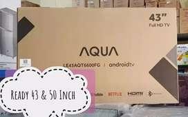 Smart Tv Android Aqua 43 & 55 Inch Free Ongkir Bandar Lampung