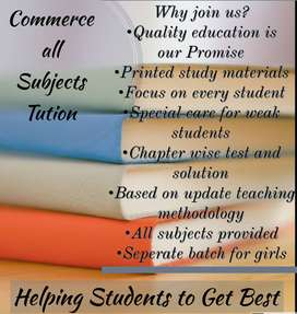 Home tuition for plus one and plus two Commerce all stream classes
