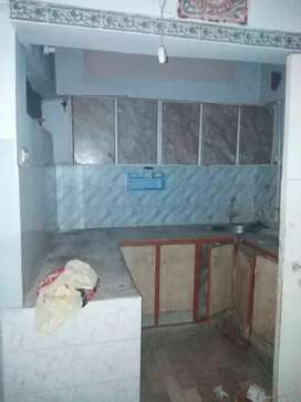 Road facing 2 bed lounge flat in johar