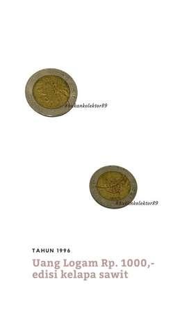 Uang Logam Rp. 1000,- Tahun 1996