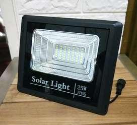 Lampu sorot LED 25 WATT Solar cell panel tenaga matahari surya