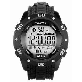 AyooDropship - XWatch Smartwatch Olahraga - Black