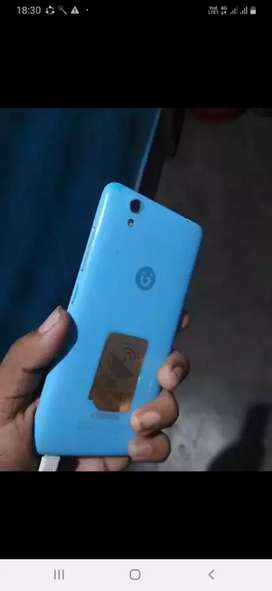 Light blue colour good looking phone