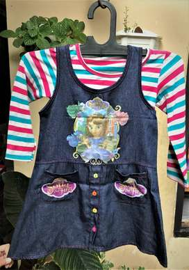 Dress Anak Perempuan Sofia Casual 3-6th
