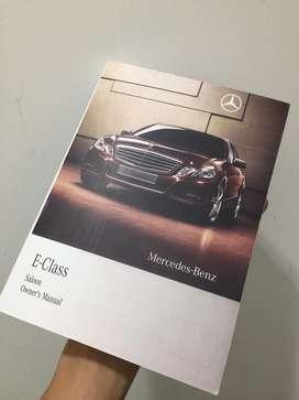 BookManual Repro Ori Mercedes Benz E200/250/300/63 Tahun 2010/2014