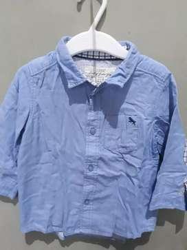 Kemeja Biru Muda H&M