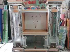 Bufet tv avalon bufet tv murah bahan kayu warna silver