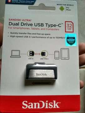 Flashdisk sandisk otg type C 32 GB Original