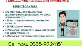 NTN, Income Tax Return, Company Registration (Reasonable Fee)