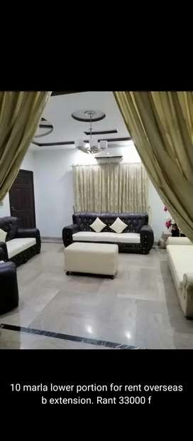 Bahria town Lahore 10 Marla lower portion For Rent
