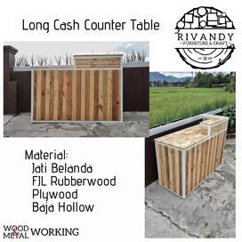 Long Cash Counter Table