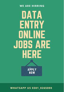We are providing you with a job offer of data entry job home based