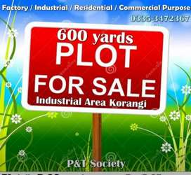 5400 SQ. Feets Plot available in PNT Society korangi industrial area