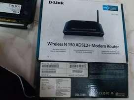 D link, TP link, MTNL.  Routers