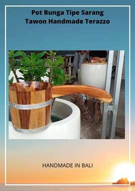 Gayung kayu Jati Handmade Terazzo