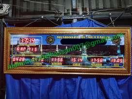 Jadwal Sholat/Jam Masjid Digital + Timer Otomatis
