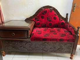 Sofa meja jati antik lawas