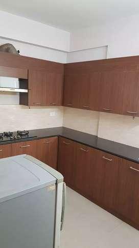 #fully furnished 3bhk flat near info park &rajagiry