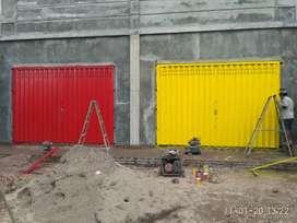 Pintu harmonika pol ding gate