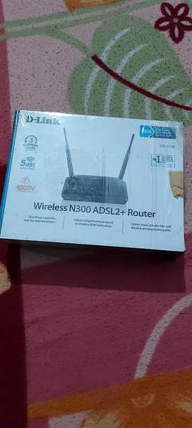 D link modem wireless N 300 ADSL2 +ruter Brend new pice with bill