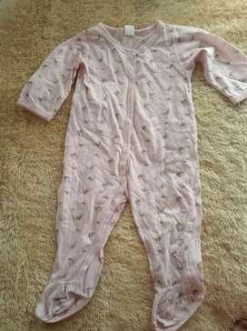 Sleepsuit baby girl 12m pink motif lucu bagus