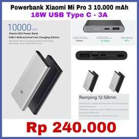 Xiaomi Powerbank 3 10000mAh USB-C Fast Charging 18W