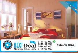 2 Beds Family Living Apartment TV Lounge Kitchen Terrace Sector H 13