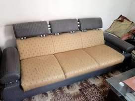 5 seater Sofa with glass top Center Table