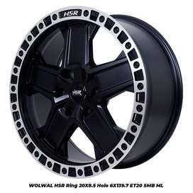 jual velg off road ring 20 tipe WOLWAL HSR R20X85 H6X139,7 ET20 SMB/ML