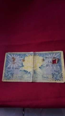 Uang kuno 5 rupiah tahun 1959
