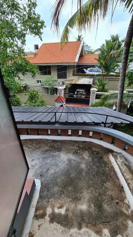 First floor of Semifurnished villa for rent with roofed Car parking