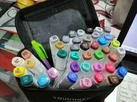 Pen marker alat gambar untuk sekolah sketsa / desain merk Touchnew
