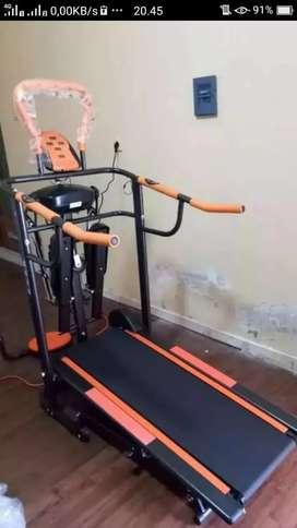 sale baru murah treadmill manual 6 fungsi +massager