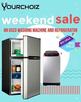 I'd CV80 Yourchoiz weekend sale on used washing machine & refrigerator