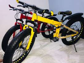 RED Color Fat Bike Tyre CYCLES Available
