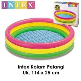 Kolam Renang Anak Merk Intex Ukuran 114 cm x 25 cm Rainbow Kolam Besar