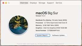 Macbook Pro 2015 | i5, 8 GB, 256 GB