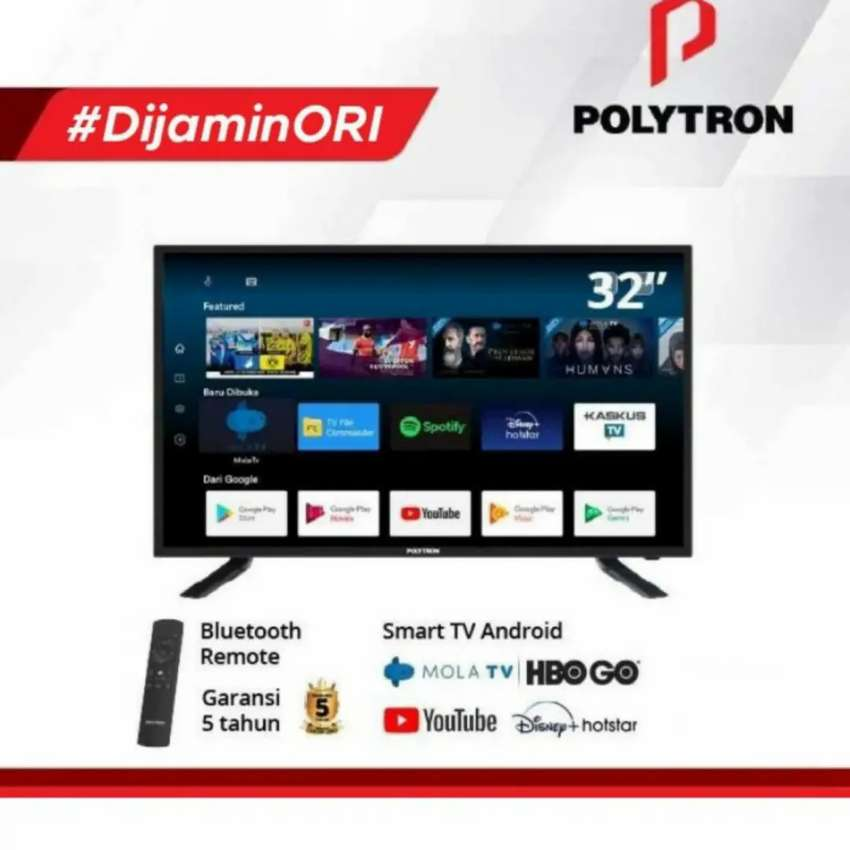 """LED SMART Android Polytron 32"""" Full HDMI special edition MOLA TV"""